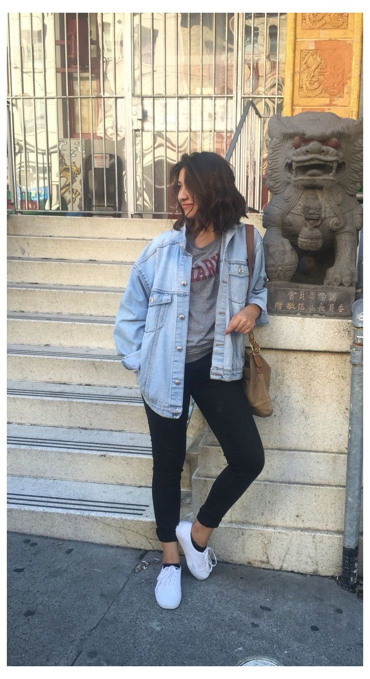 Outfits With Black Jeans And White Vans Outfitswithblackjeansandwhitevans Jean Jacket Black Jeans Trendy Fall Outfits Jean Jacket Outfits City Outfits [ 1386 x 756 Pixel ]