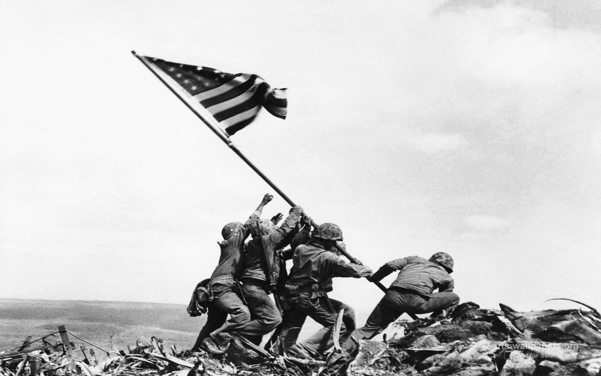 flag raising on iwo jima wallpaper 01 flag raising on iwo jima