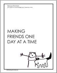 FREE Making Friends Workbook w/ Lesson Plans