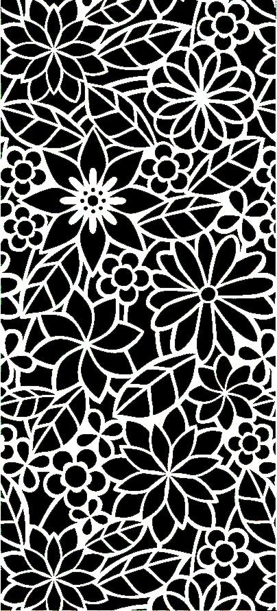 Abstract Floral Pattern DXF File Free Download | Laser