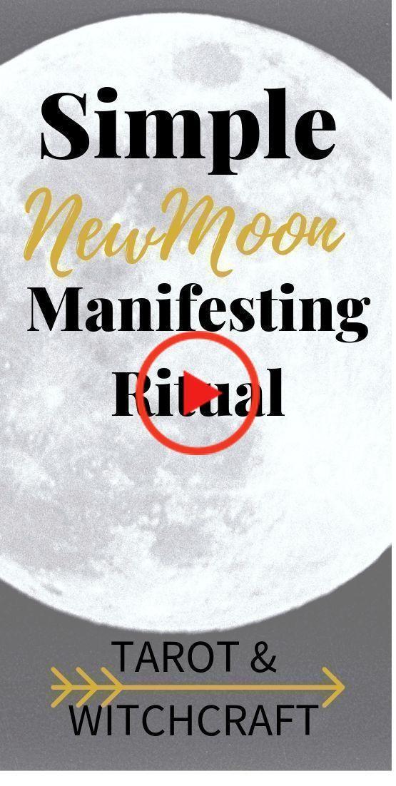 New Moon Manifesting Ritual #newmoonritual Simple New Moon Manifesting Ritual - Tarot Witchcraft.