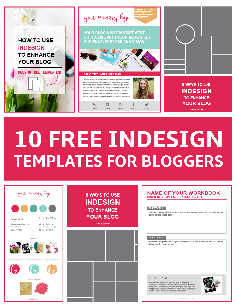 10 Free InDesign Templates for Bloggers for Content Upgrades ...