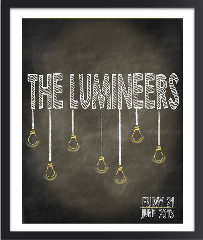 "THE LUMINEERS Poster Wall Print 24/"" x 36/"" 7 inch"