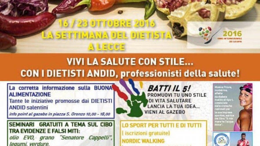 Vivi La Salute Con Stile Anche A Lecce L Iniziativa Promossa In Tutta Italia Dall Andid Salute Salute E Benessere Alimenti