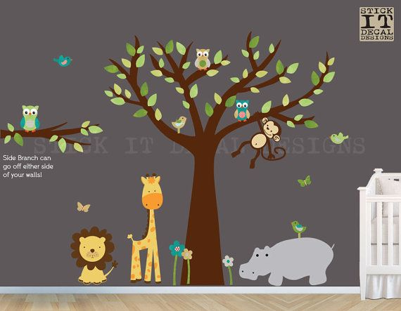 Jungle Decals Jungle Wall Decals Nursery By StickItDecalDesigns - Nursery wall decals jungle