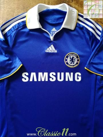 premium selection 5ffbf 7bc33 Official Adidas Chelsea home football shirt from the 2008 ...