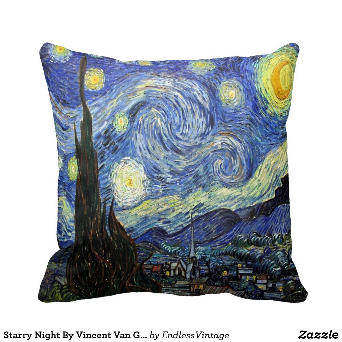 van gogh starry night Long Cushion Covers Pillow Cases Home Decor or Inner
