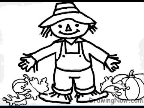 how to draw a scarecrow youtube