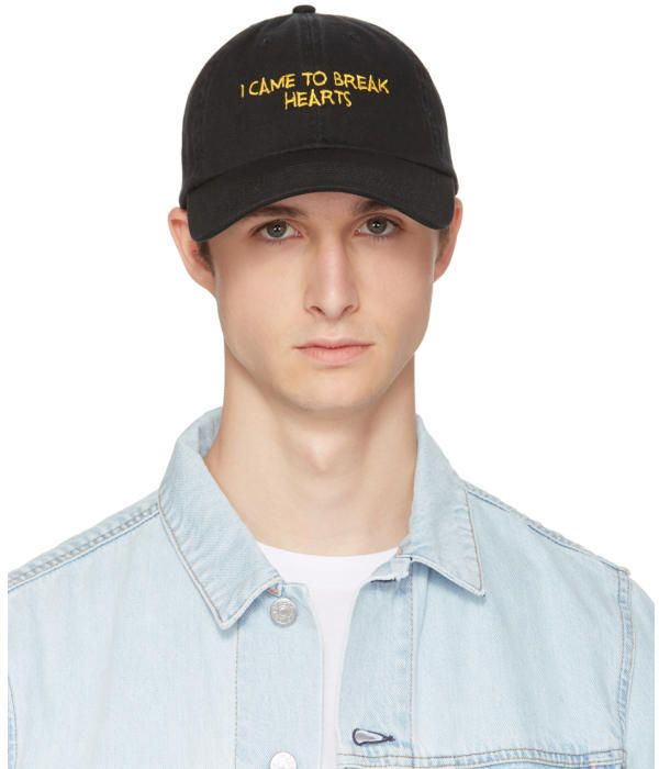 SSENSE Exclusive Yellow and Black I Came to Break Hearts Cap Nasaseasons l0S2FWX