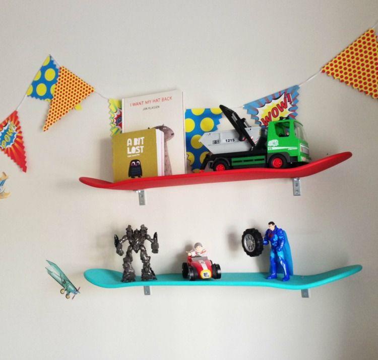 Wandregal kinderzimmer selber bauen  Wandregale aus alten Skateboards selber bauen | Wohnen | Pinterest ...