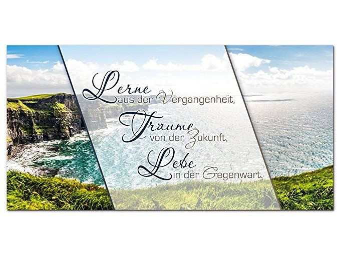 graz-design Wandbild mit Spruch Lerne Träume \u2026 Lebe \u2026 Panoramabild