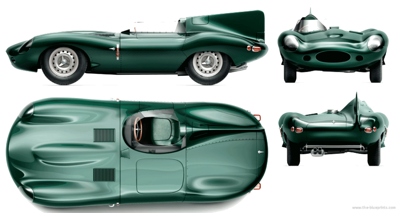 Jaguar Xj13 Blueprint Jaguar D Type Long Nose 1956 Design Ex Pinterest Jaguar
