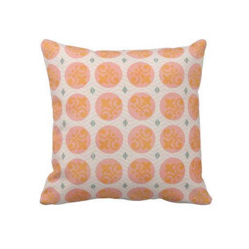 Fleur De Lis Circles Throw Pillow