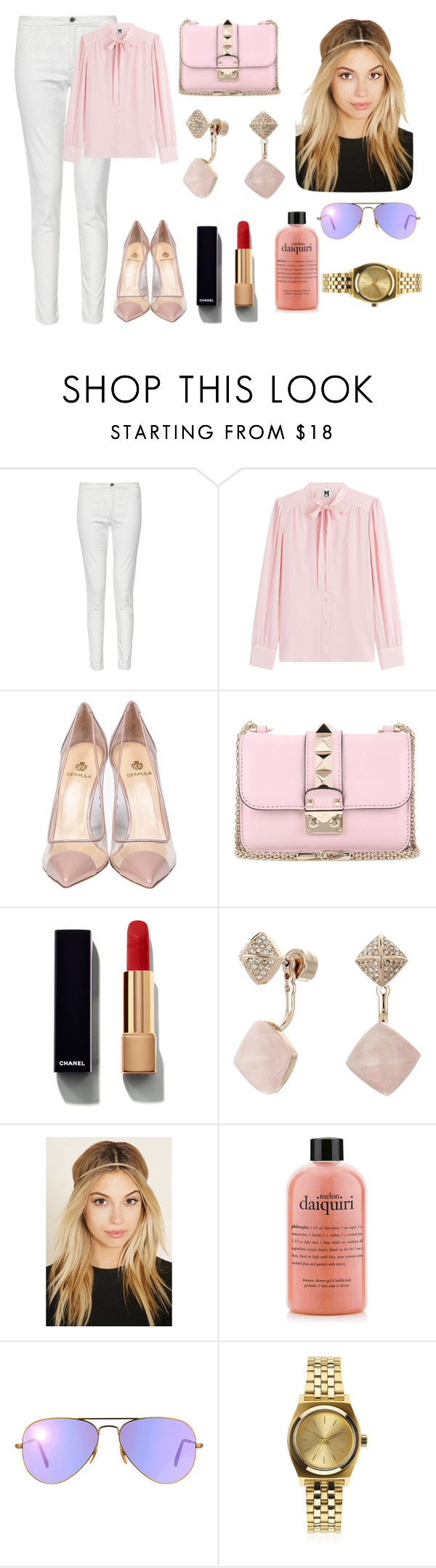 """Sin título #4071"" by alejandrahs ❤ liked on Polyvore featuring French Connection, M Missoni, Semilla, Valentino, Chanel, Michael Kors, Forever 21, Ray-Ban and Nixon"