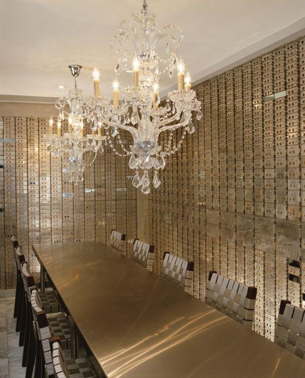 A Bank Vault Turned Diningroom Interior Design By Charles Delisle Banks Vault Design Vault Doors