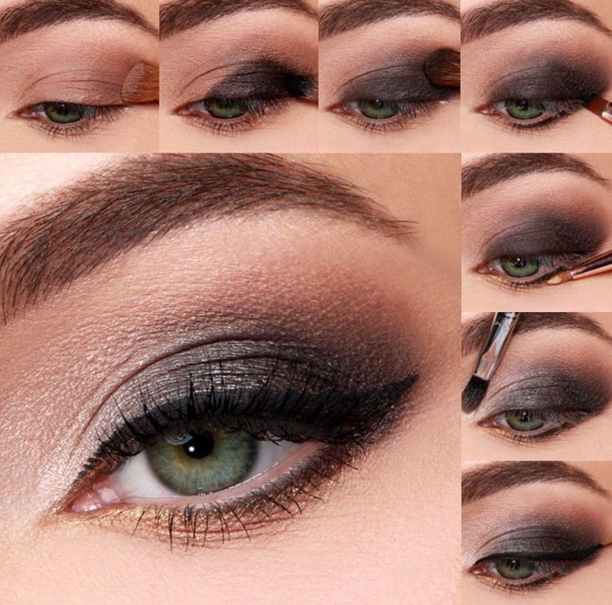 Light smokey eye with gold shimmer Smokey eyeshadow