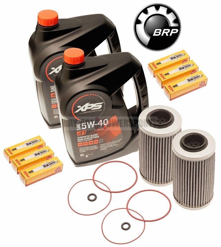 Ebay Sponsored Seadoo Oil Change Kit W Filter O Rings Spark Plugs Rxpx Rxtx Gtx 300 2 Pack Changing Kit Oil Change Spark Plug