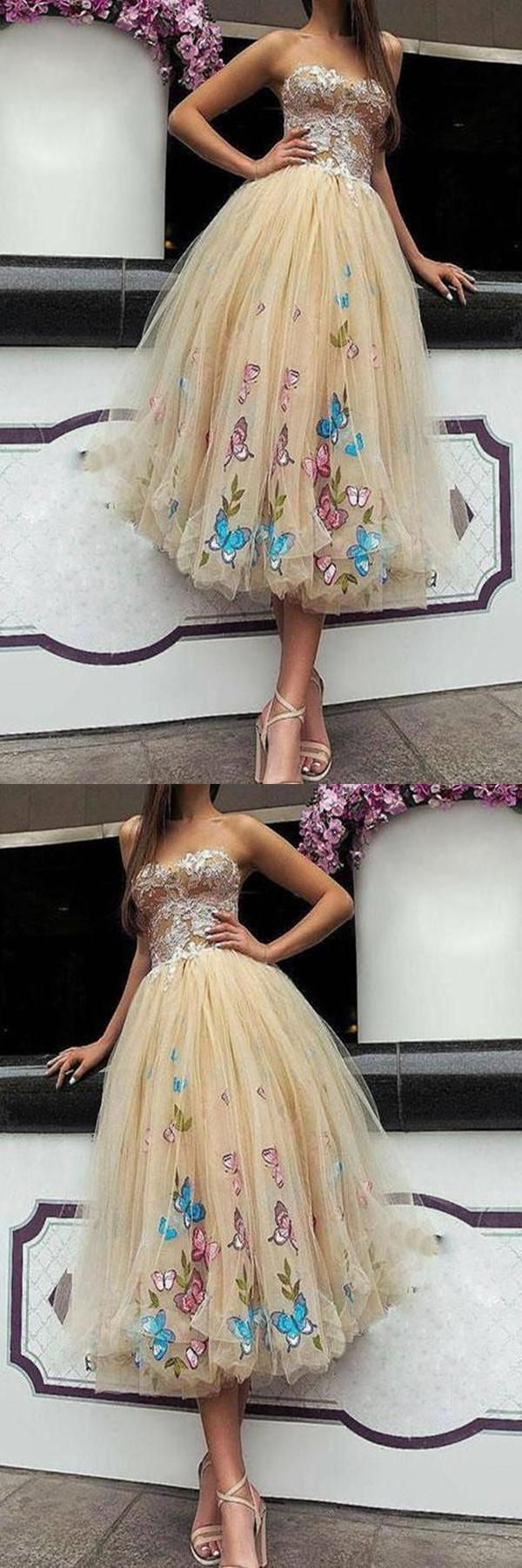 Custom made magnificent prom dresses short tulle sweetheart