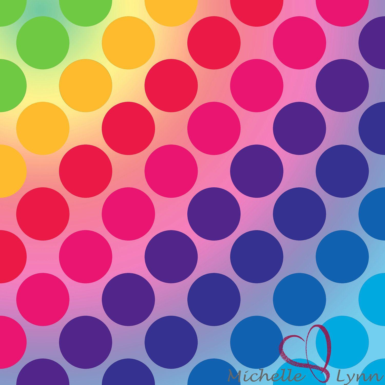 Scrapbook ideas rainbow - Pics Of Polka Dots Rainbow Polka Dot Digital Scrapbook Paper By 3wishesphotography