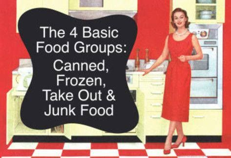 The 4 basic food groups.