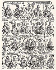 Artist: Schoen, Erhard, Title: Stammbaum des Hauses Wittelsbach (erstes Teilblatt), Date: ca. 1530