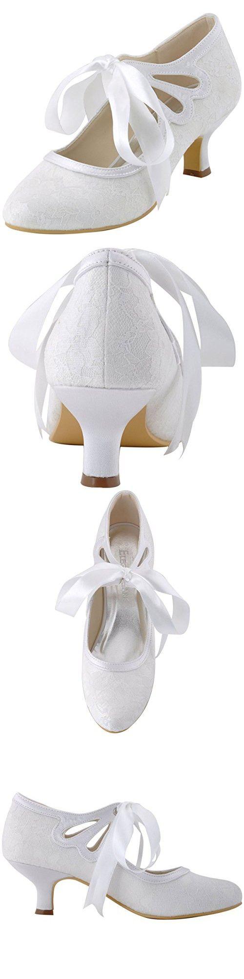 Low heel dress shoes for wedding  ElegantPark HC Womenus Mary Jane Cut Out Closed Toe Low Heel