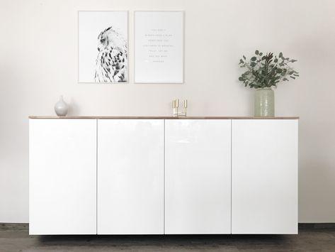 Ikea Hack Metod Küchenschrank Als Sideboard Elfenweiss