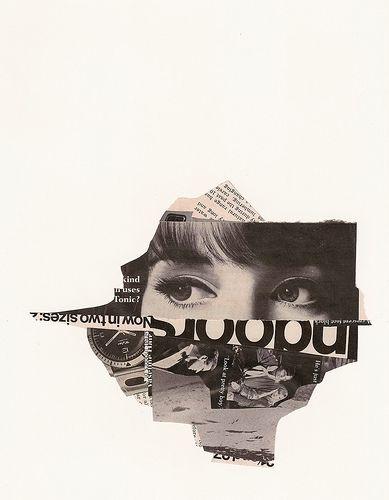 looking through - eyes collage