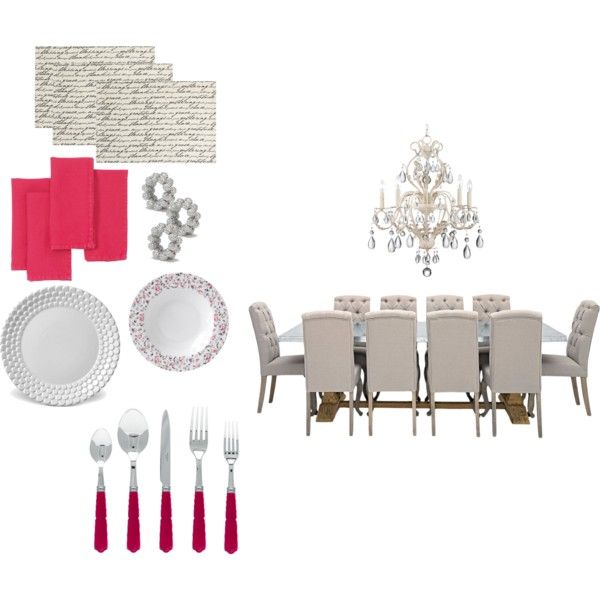 pink dinner by understanding-fashion on Polyvore