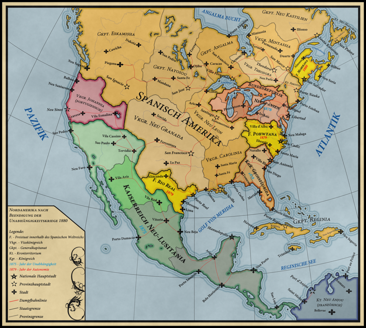 Alternate history maps of America | Nordamerika, Amerika und ...