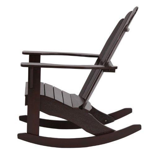 Mainstays Wood Adirondack Rocking Chair Dark Brown