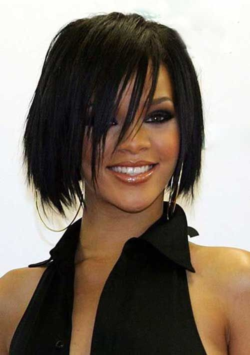 Layered Hairstyles With Bangs Prepossessing 15 Rihanna Bob Haircut  Bob Hairstyles 2015  Short Hairstyles For