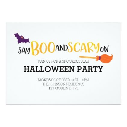 Say Boo And Scary On Card