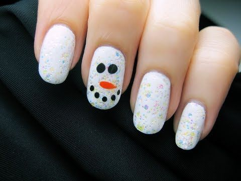 Easy Snowman Nails - another easy tutorial