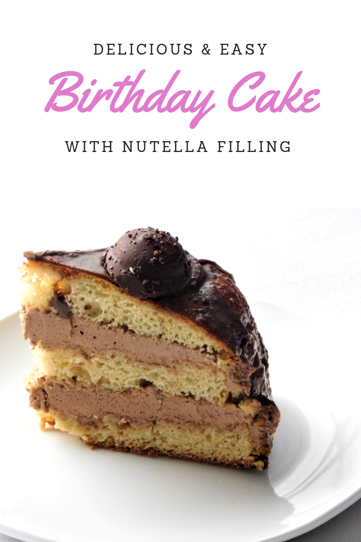 Astonishing French Vanilla Cake With Nutella Filling With Images Cake Funny Birthday Cards Online Amentibdeldamsfinfo
