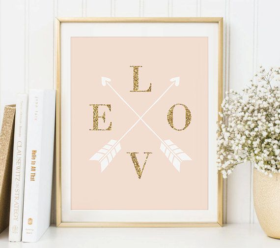 Love Arrows Printable Art Print Instant Download by DecorartDesign