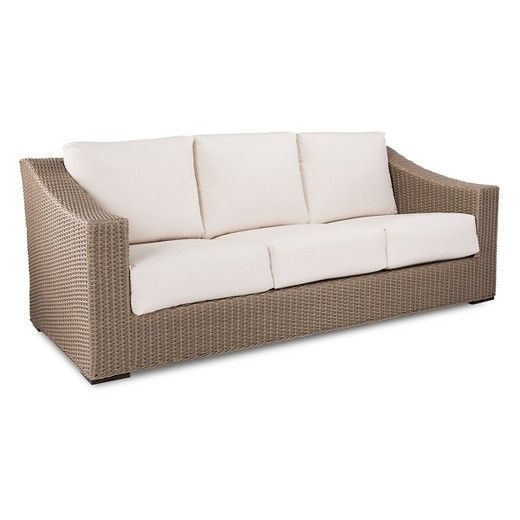 Premium Edgewood Wicker Patio Sofa   Smith U0026 Hawken™