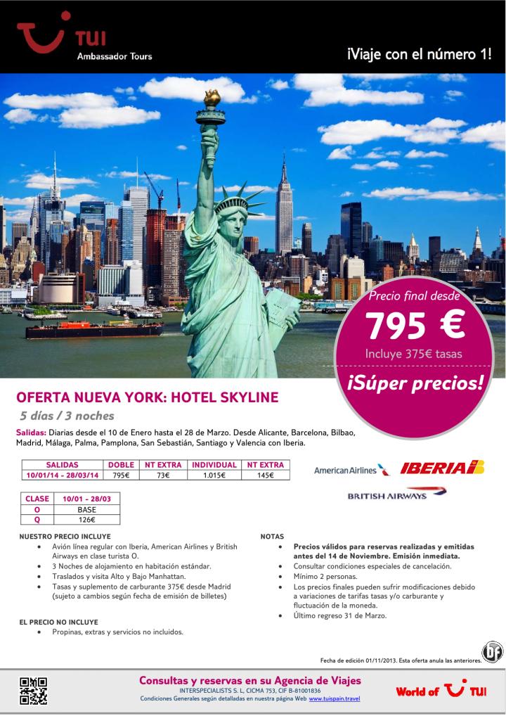 ¡Súper precios! Oferta Nueva York hotel Skyline. Precio final desde 795€ - http://zocotours.com/super-precios-oferta-nueva-york-hotel-skyline-precio-final-desde-795e/