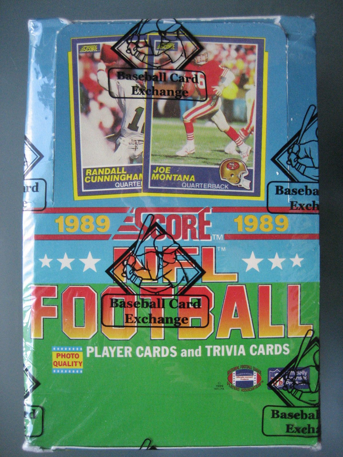 1989 score football unopened box bbce barry sanders