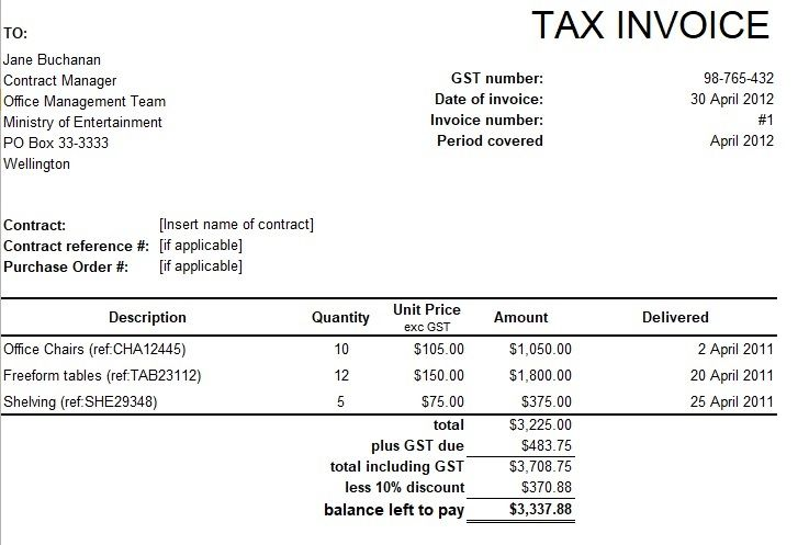 Tally Invoice Format In Excel Invoice Format In Excel Invoice Format Invoice Template