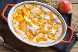 Almond Flour Peach Cobbler | In The Kitchen With Honeyville #peachcobblercheesecake