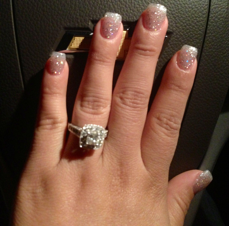 Short glitter nails!