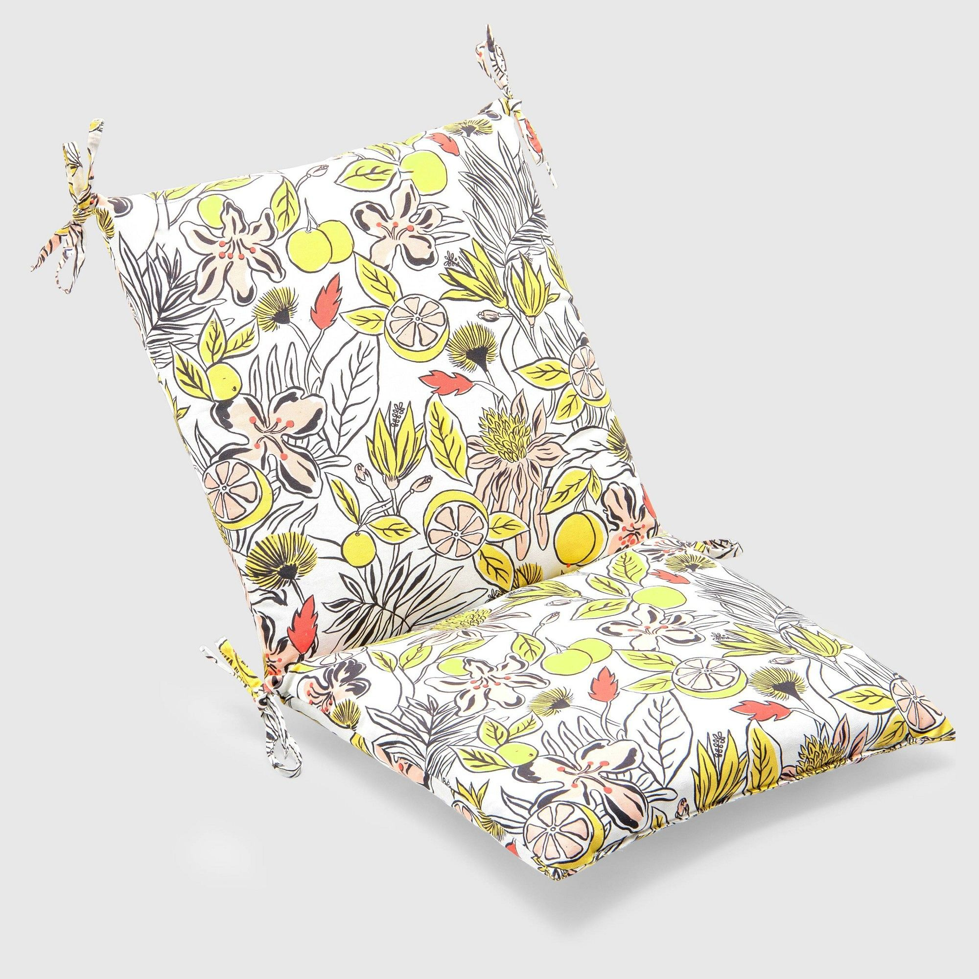 Party Floral Outdoor Chair Cushion Opalhouse , Green