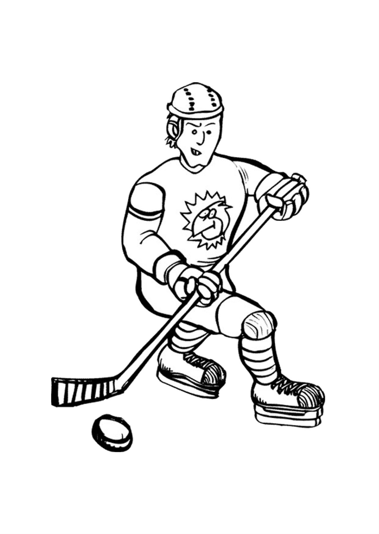 Serious Face Playing Hockey Coloring Pages For Kids Z2 Printable Hockey Coloring Sports Coloring Pages Coloring Pages For Kids Coloring Pages Inspirational