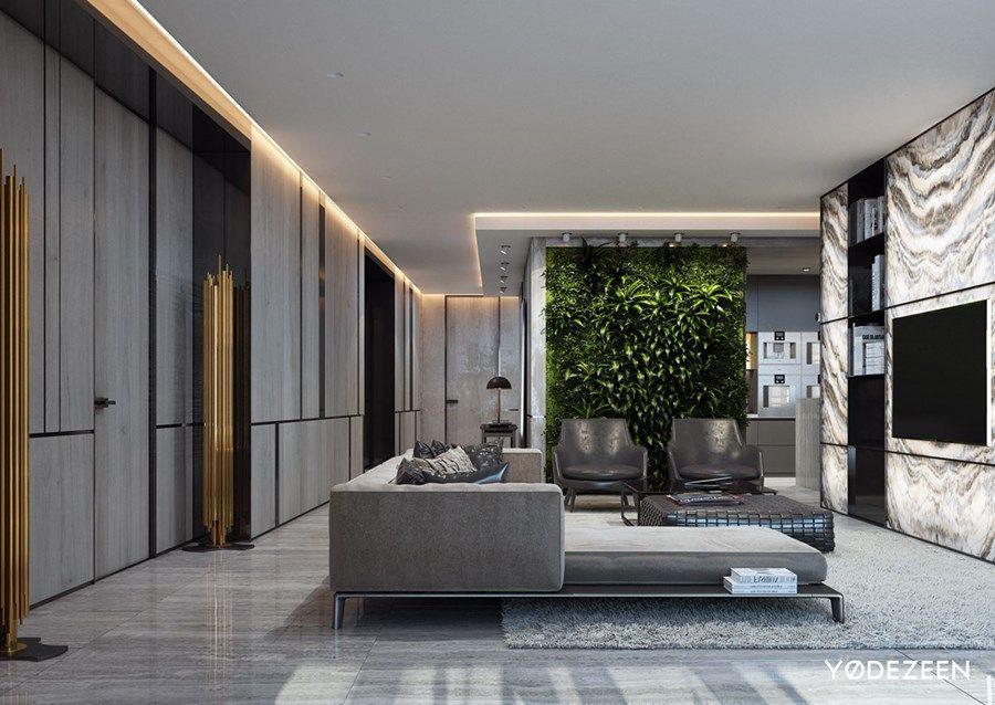Maison De Loisirs A Miami Par Yodezeen 01 Luxury Living Room