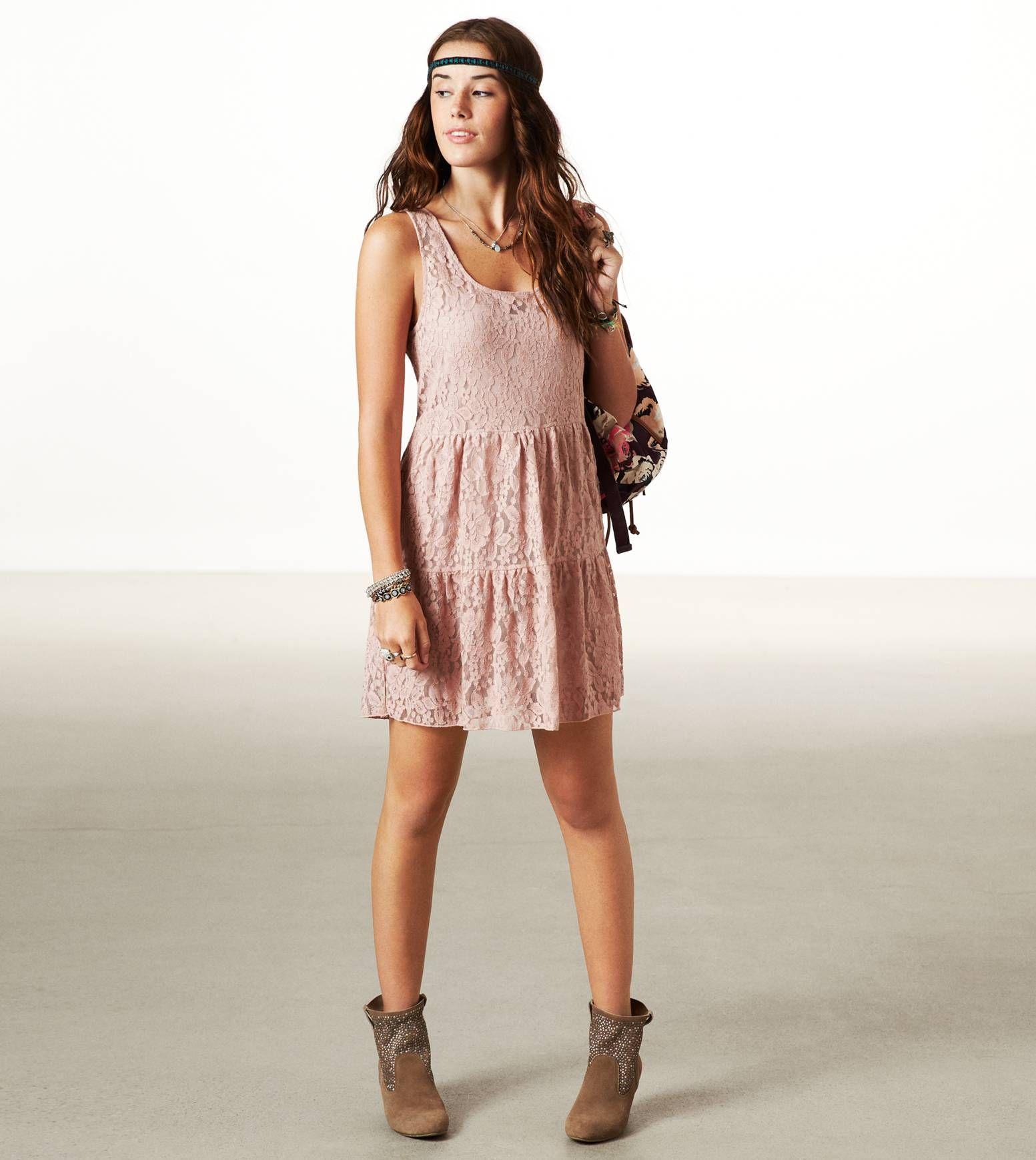 American eagle lace dress lace pink dress lace dress