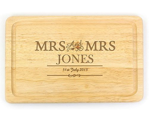 Personalised Couples Chopping Board - Mrs & Mrs
