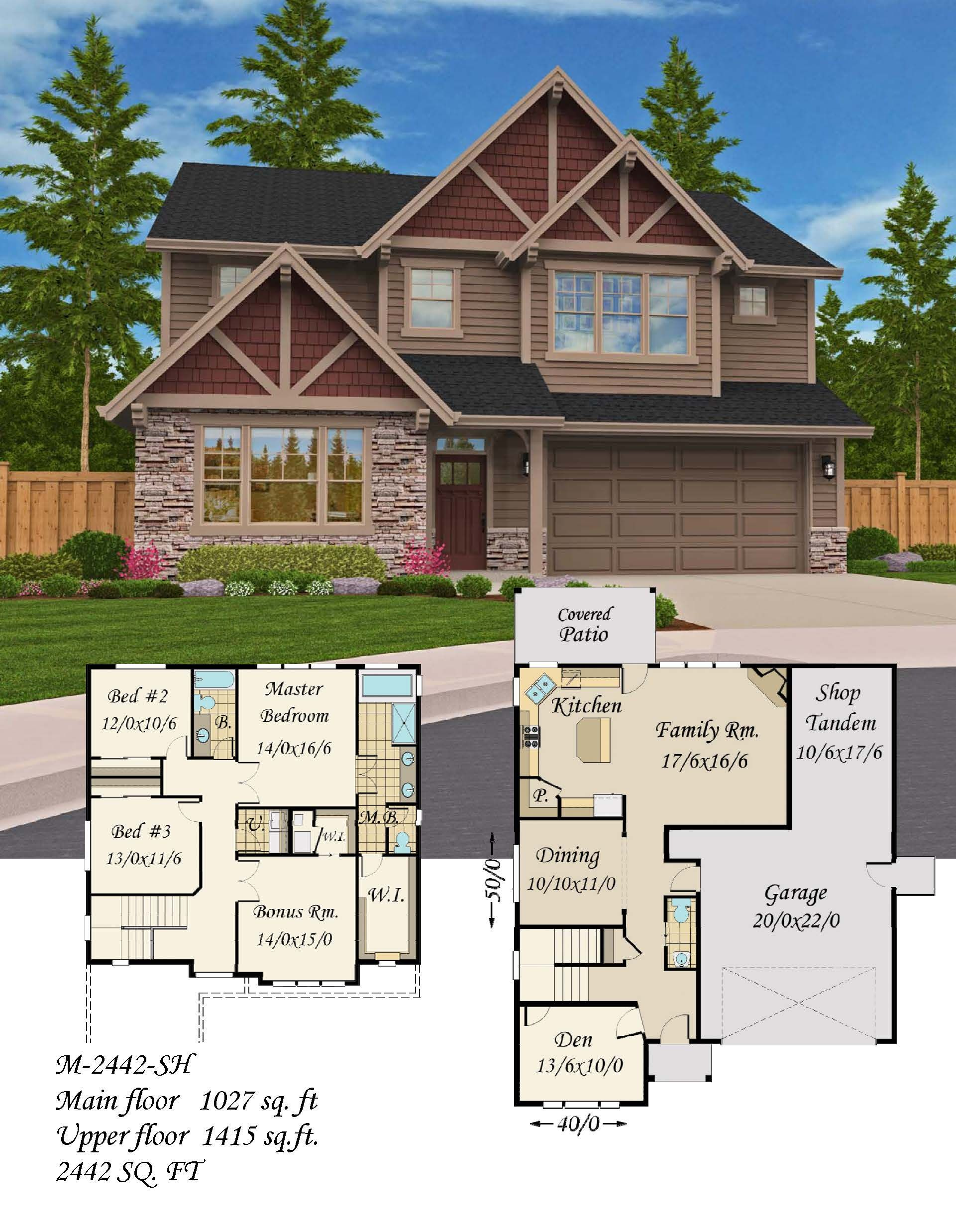 Strong Knee House Plan Bungalow House Plans Cottage House Plans Country House Plans Craf Craftsman House Plans Bungalow House Plans Narrow Lot House Plans