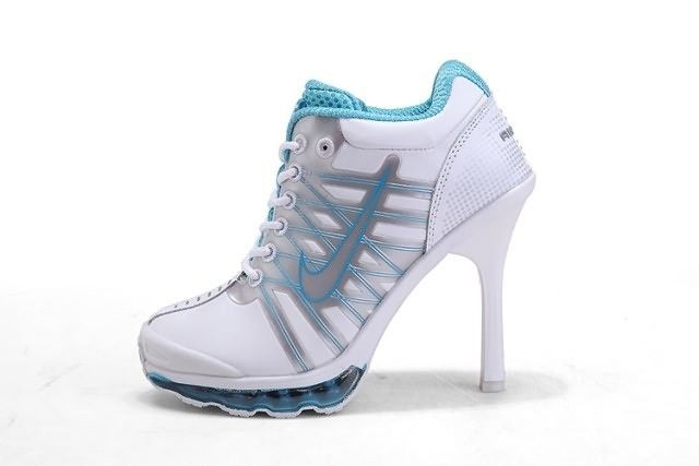 buy online 0b3ab 40d0b Air Max 2009 High Heels Boots White Blue