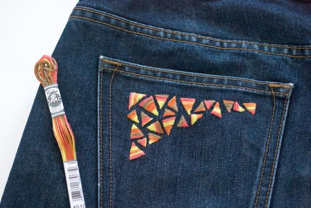 How To Embroider On Denim With Hand Stitching Denim Embroidery Diy Embroidery Shirt Hand Embroidery Patterns
